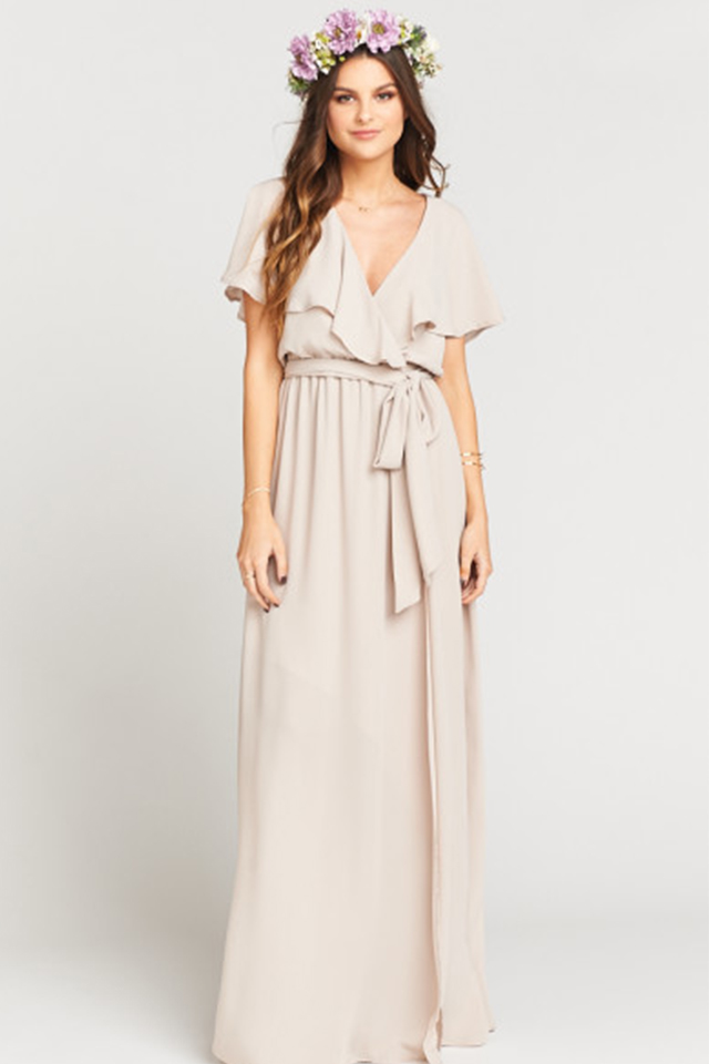AUDREY MAXI DRESS - SHOW ME THE RING CRISP