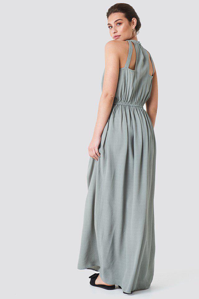 Hip Long Dress Green