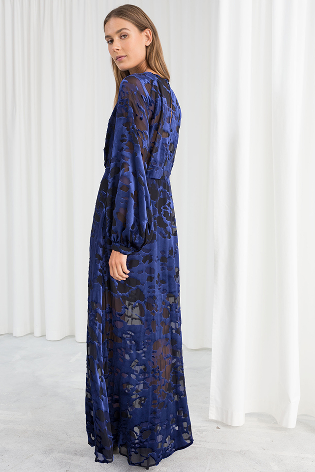 Sheer Velvet Maxi Dress